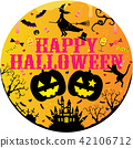 A witch on a Halloween broom 42106712