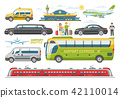 Transport vector public transportable vehicle bus or train and car for transportation in city 42110014