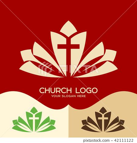 Church logo. Cristian symbols. The cross of Jesus 42111122