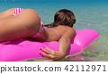 mattress, woman, beach 42112971