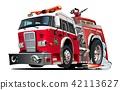 Vector cartoon firetruck 42113627