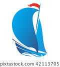 Ship with sail vector 42113705