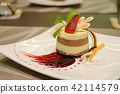 chocolate mousse with strawberry compote 42114579