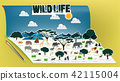 Pop-up book with africa savanna animal scenery 42115004