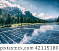 Solar cell panel in country mountain landscape. 42115180
