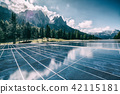 Solar cell panel in country mountain landscape. 42115181