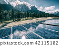 Solar cell panel in country mountain landscape. 42115182