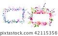 wreath of flowers in watercolor 42115356