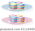 vector colorful gelatin dessert on a plate 42116400