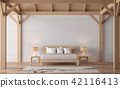 Loft style bedroom 3d render 42116413