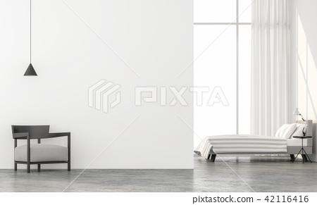 Minimal style bedroom 3d render 42116416