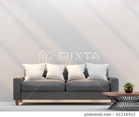 Modern living room 3d render 42116422