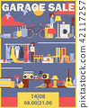 Vector vertical poster or flyer for garage sale  42117257