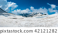 panorama view of outside for landscape snow wall 42121282