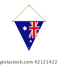 Australian triangle flag hanging, vector 42121422