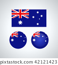 Australian trio flags, vector illustration 42121423