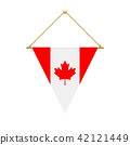 Canadian triangle flag hanging, vector 42121449