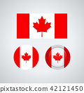 Canadian trio flags, vector illustration 42121450