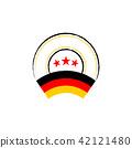 German flag, retro stamp, vector illustration 42121480