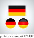 German trio flags, vector illustration 42121482