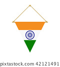 Indian triangle flag hanging, vector illustration 42121491