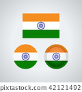 Indian trio flags, vector illustration 42121492