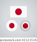 Japanese trio flags, vector illustration 42121516