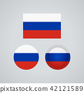 Russian trio flags, vector illustration 42121589