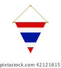 Thai triangle flag hanging, vector illustration 42121615