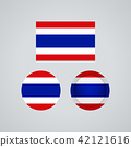 Thai trio flags, vector illustration 42121616