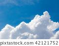 푸른 하늘, 파란 하늘, 여름 42121752