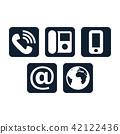 Contact icons set 42122436