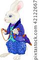 White Rabbit Holds Watch 42122667
