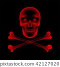 Skull and crossbones X-ray concept design 42127020
