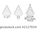 Step of chopping timber by axe make Christmas Tree 42127634