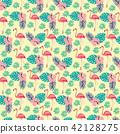 flamingo, pattern, background 42128275