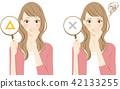 一个女人患有Smehara香水柔顺剂的气味 42133255