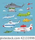 helicopter, vector, aircraft 42133996
