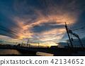 sunset, sky, landscape 42134652