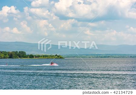 summer water sports on Zemplinska Sirava lake 42134729