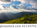 beautiful cloudscape over the summer mountains 42134742