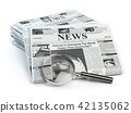 News. Loupe with  periodic ho news newspapers 42135062