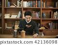 한국인, 젊은남자, 커피 42136098