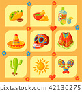 Mexico icons vector illustration traditional graphic travel tequila alcohol fiesta drink ethnicity 42136275