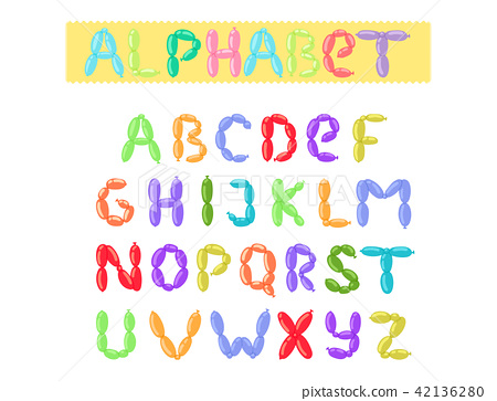 english balloon colorful alphabet vector holidays party abc and