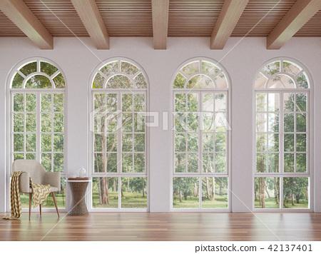Scandinavian living room 3d render 42137401