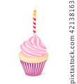candle, cake, cupcake 42138163