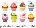 berry, cake, cupcake 42138164