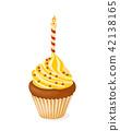 candle, cake, cupcake 42138165