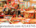 wooden products with Khokhloma painting 42143745